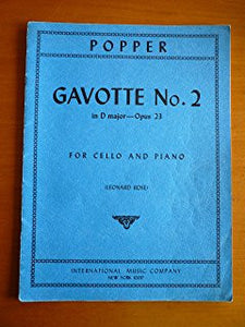 Popper, D.: Gavotte No2 in D Major Op23