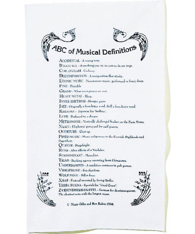 ABC Music Definitions Tea Towel