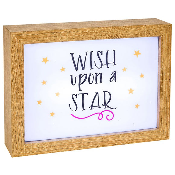 Wish Upon A Star Lumiere Rectangle LED Box