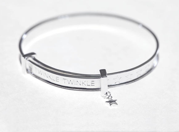 Children's Adjustable Bangle - Sterling Silver