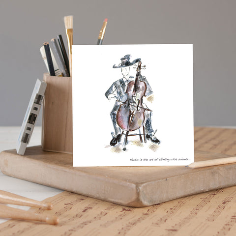 Greeting Card - Double Bass