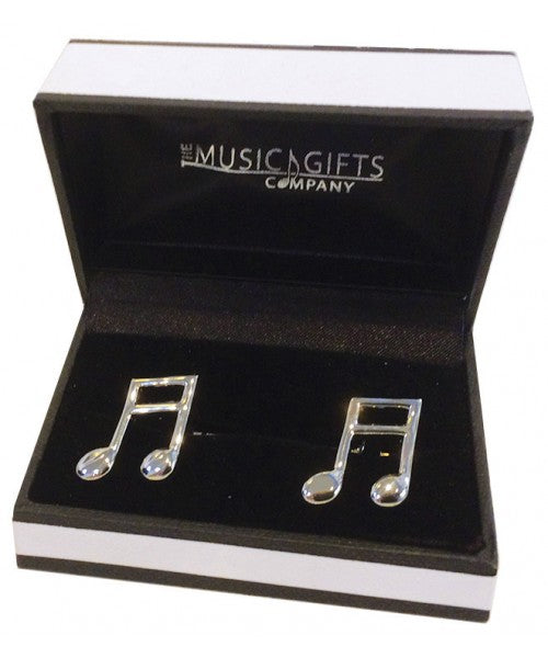 Double Quaver Silver Plated Cufflinks
