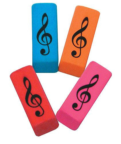 Wedge Eraser Treble Clef (Assorted Colours)