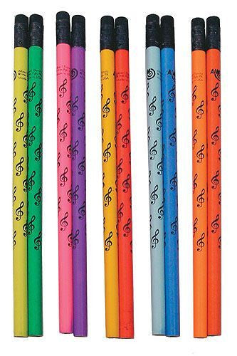 Amazing Colour Changing Mood Pencil Treble Clef (Assorted Colours)