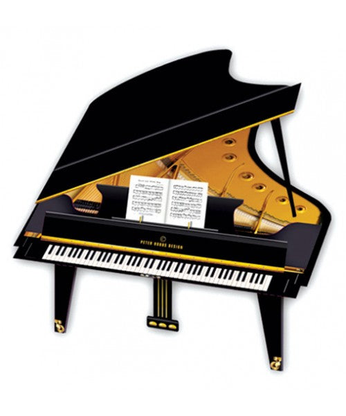 Grand Piano 3D Greetings Card