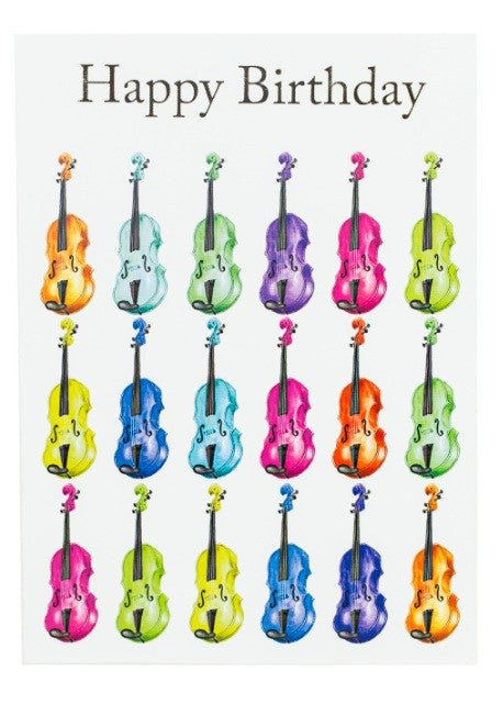 Happy Birthday Jazzy Violin Card