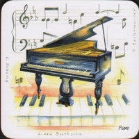 Coasters Set Piano Set Of 4