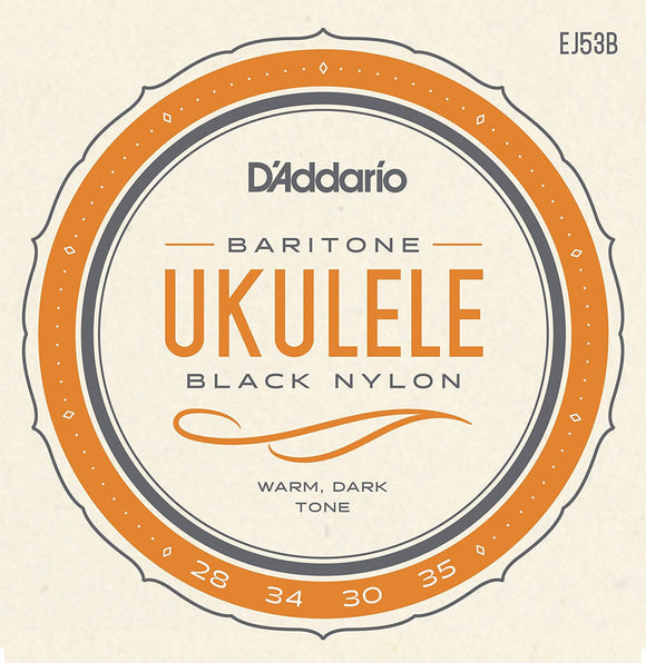D'Addario Baritone Ukulele Black Nylon Strings