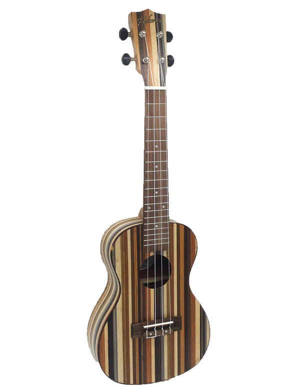 Halona Concert Jungle Stripe Ukulele Inc Gigbag