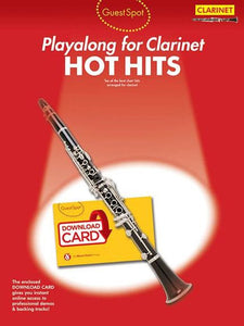 Guest Spot: Hot Hits - Clarinet (Book/Audio Download)