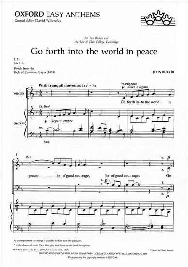 Rutter - Go Forth Into the World in Peace