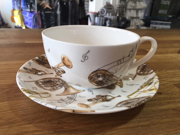 Cappuccino Cup and Saucer - Brass