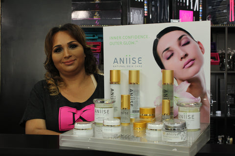 Founder of Kosmetic Land with our Aniise Skincare products!