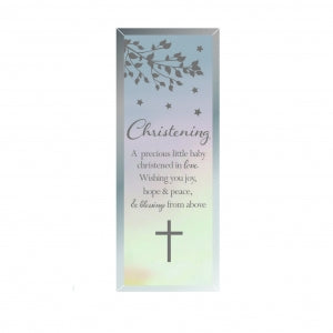 Oblong Glass Plaque Christening Code: 61851