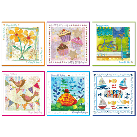 Pack of 6 Birthday cards (with verse) Code: CH2022