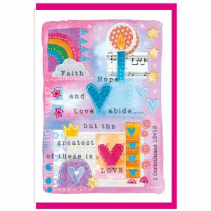 Faith, Hope & Love Greetings Card Code CH421