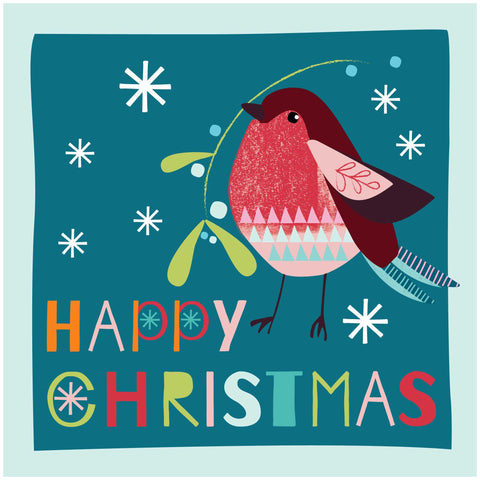 Robin Happy Christmas Cards Code: CM149
