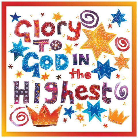 Glory to God in the highest Christmas cards Code:CM38