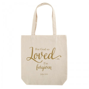 For God So Loved Tote Bag with Inside Pocket Code: D2001