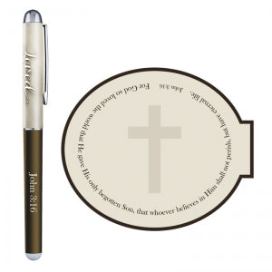 For God So Loved Gift Pen with Notepad Code: D2011