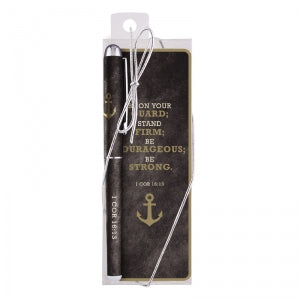 Be Strong Gift Pen with Bookmark  Code: D2041