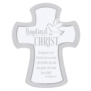 "Baptized in Christ 7"" Wall Cross Code: D2399"