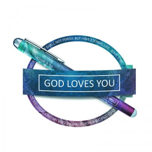 God Loves You Pen and Notepad Set Code: D4160