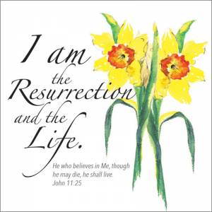 I am the Resurrection Easter Cards (pack of 5) Code EA103