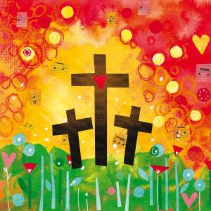 Three Crosses Easter Cards (pack of 5) Code EA129