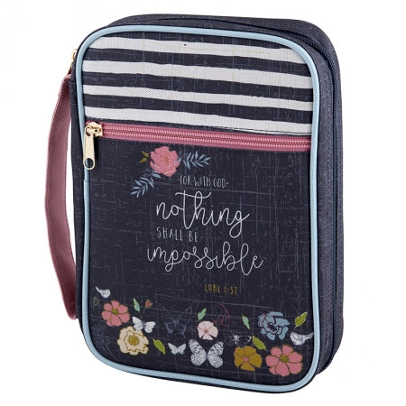 Canvas Bible Covers - Nothing Impossible Code: F3618