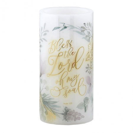 LED Candle - Bless The Lord Code: F4565