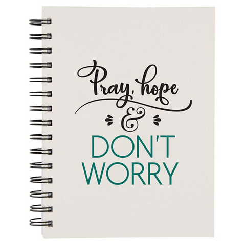Pray, Hope & Don't Worry Notebook Code: G1111