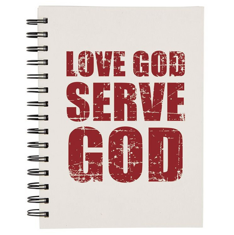 Love God Serve God Notebook Code: G1114