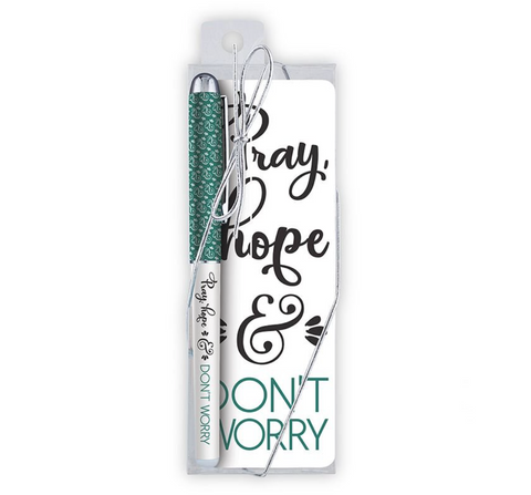 Pray, Hope & Don't Worry Pen & Bookmark Set Code: G1127