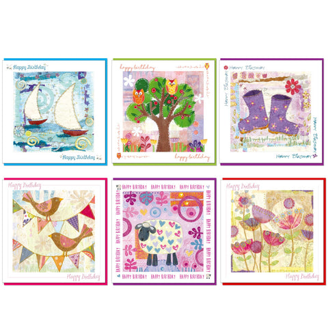 Pack of 6 Birthday Cards Code: GE1020