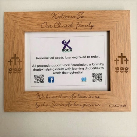 RF Welcome To Our Church Family Photo Frame Code: TRF197