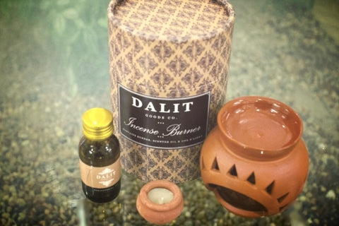 Terracotta Incense Burner with Rahul Candle and Rose Scented Perfume Code DGC142