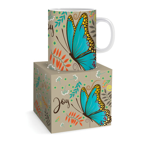 Joy Butterfly Bone China Mug Code: MG126