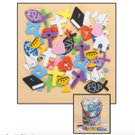 Tub of Assorted Foam Stickers Code: NS759