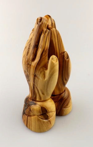 OLIVE WOOD - SMALL PRAYING HANDS (10.5cm) Code: OW110