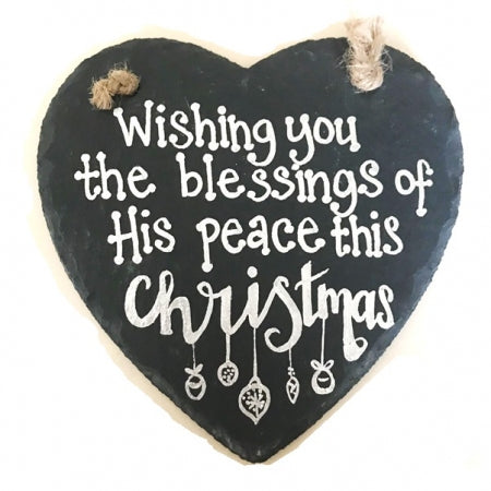 Christmas Slate Heart - Wishing You The Blessings Code: PBCC107
