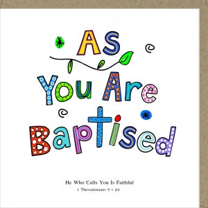Potty Mouse Greetings Card As You Are Baptised Code: PM101