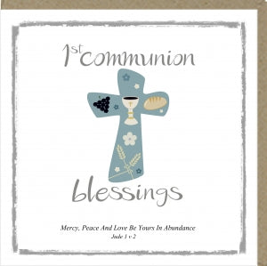 PM Greetings Card - 1st Communion Blessings Code: PM312