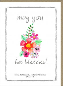 PM Greetings Card - May You Be Blessed Code: PM325