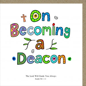 PMC On Becoming a Deacon Greetings Card Code: PM373