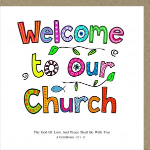 PMC Welcome to Our Church Greetings Card Code: PM375