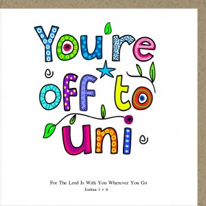 PMC You're Off To Uni Greetings Card Code: PM378