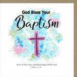 PM God Bless Your Baptism Greetings Card Code: PM442