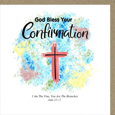PM God Bless Your Confirmation Greetings Card Code: PM443