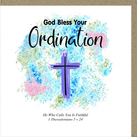 PM God Bless Your Ordination Greetings Card Code: PM444